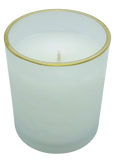 Spiced Cranberries Frosted Glass Candle