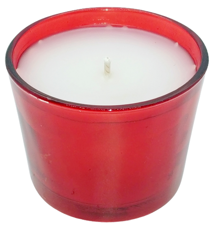 Spiked Eggnog Red Glass Candle