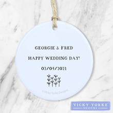 Load image into Gallery viewer, Personalised-ornament-wedding