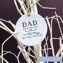 Load image into Gallery viewer, Personalised-hanging-ornament-Dad
