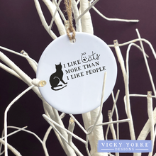 Load image into Gallery viewer, Personalised-hanging-ornament-cats