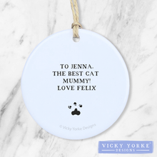 Load image into Gallery viewer, Personalised-cat-ornament