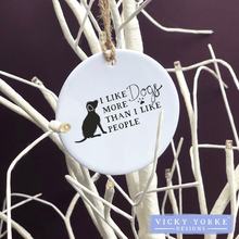 Load image into Gallery viewer, Personalised-hanging-ornament-dogs