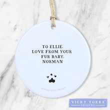 Load image into Gallery viewer, Personalised-dogs-ornament