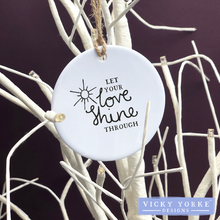 Load image into Gallery viewer, Personalised-hanging-ornament-love-shine