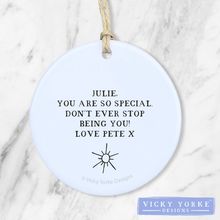 Load image into Gallery viewer, Personalised-ornament-friendship-love