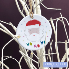 Load image into Gallery viewer, Personalised-hanging-ornament-santa