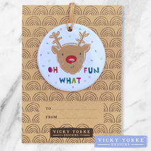 Load image into Gallery viewer, Personalised-ornament-rudolph-reindeer