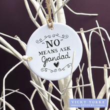 Load image into Gallery viewer, Personalised-hanging-ornament-ask-grandad