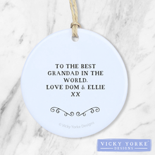 Load image into Gallery viewer, Personalised-ask-grandad-ornament