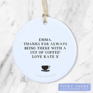 Personalised-ornament-coffee-quote