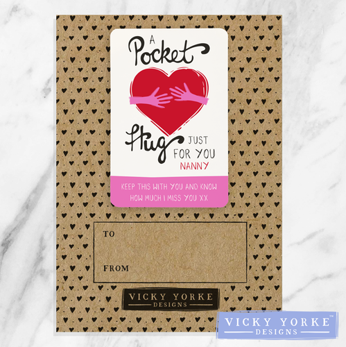'Pocket Keepsakes' (Personalised) - 'Pocket Hug' (Pink)