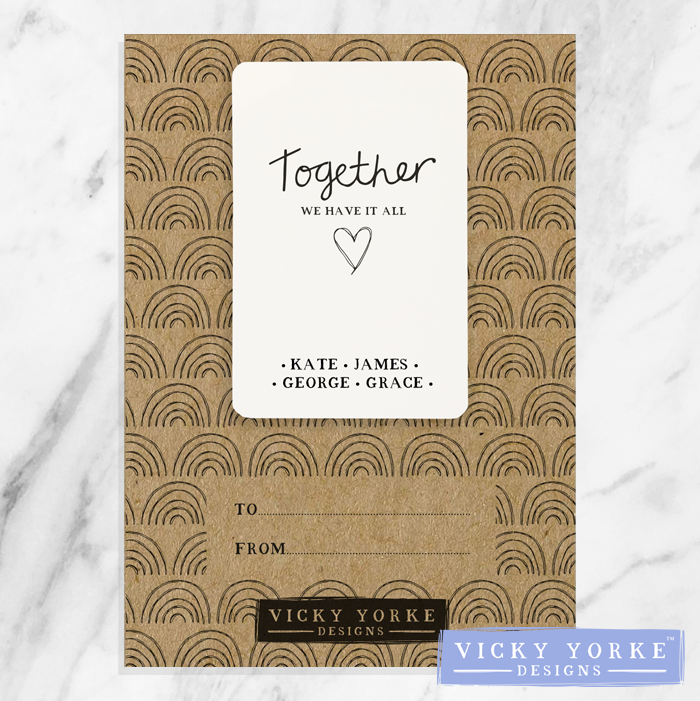 'Pocket Keepsakes' (Personalised) - 'Together We Have It All'