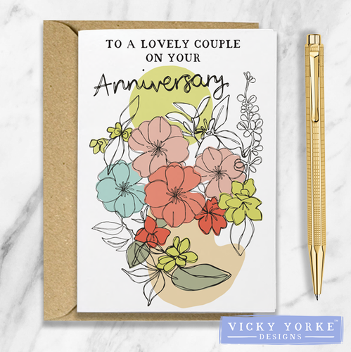 Greetings Card – Contoured Collection - 'Anniversary'