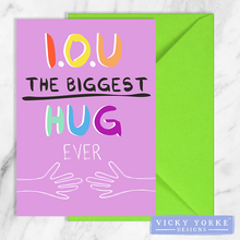 Load image into Gallery viewer, greetings-card-set-biggest-hug-ever