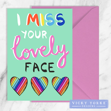 Load image into Gallery viewer, greetings-card-set-miss-your-face