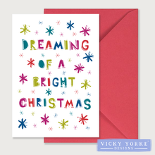 Load image into Gallery viewer, Christmas Cards Set Of 5 Cards - Merry & Bright