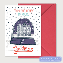 Load image into Gallery viewer, Christmas-cards-pack-of-5-from our house