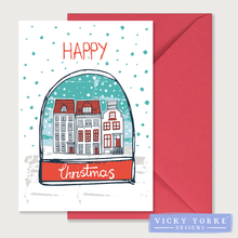 Load image into Gallery viewer, Christmas-cards-pack-of-5-christmas-town