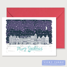 Load image into Gallery viewer, Christmas-card-set-dark-winter-scene