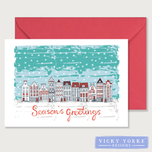 Load image into Gallery viewer, Christmas-card-set-seasons-greetings