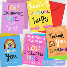 Load image into Gallery viewer, greetings-cards-set-thank-you-hugs
