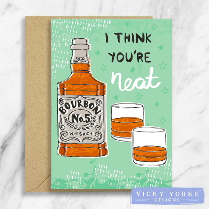 Greetings Card – Happy Hour - 'I Think You're Neat'
