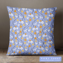 Load image into Gallery viewer, 45cm Cushion – 'Bee Happy – Bee Garden'