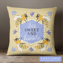 Load image into Gallery viewer, Bumble-bee-cushion