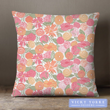 Load image into Gallery viewer, Floral-home-sweet-home-cushion