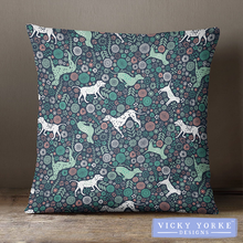 Load image into Gallery viewer, dogs-patterned-cushion