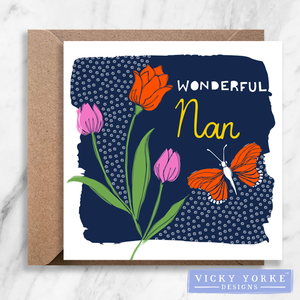 Greetings Card - 'Wonderful Nan / Grandma'