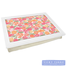 Load image into Gallery viewer, lap-tray-floral-pink