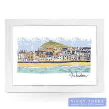 Load image into Gallery viewer, lap-tray-st-ives-the-harbour