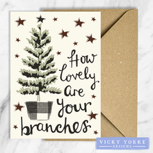 Load image into Gallery viewer, Christmas-cards-pack-of-5-lovely-branches