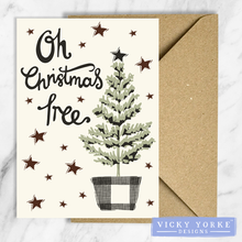 Load image into Gallery viewer, Christmas-cards-pack-of-5-christmas-tree
