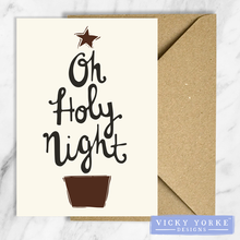 Load image into Gallery viewer, Christmas-cards-pack-of-5-holy-night