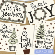 Load image into Gallery viewer, Christmas-card-set-5-cards
