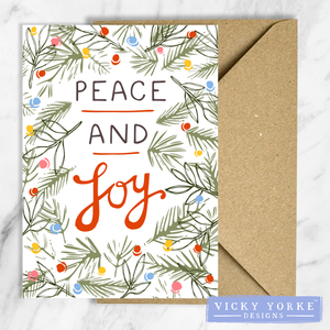Christmas-card-set-peace-joy-vintage