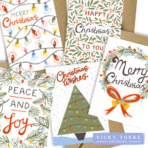 Christmas-cards-pack-of-5-vintage