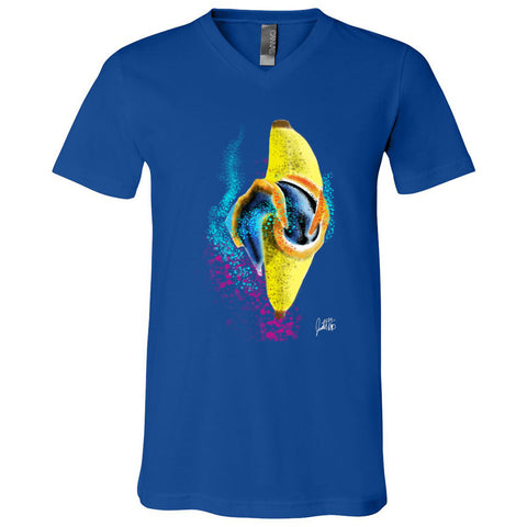 Sea Slug Banana Bella + Canvas - Unisex Short Sleeve V-Neck Jersey Tee