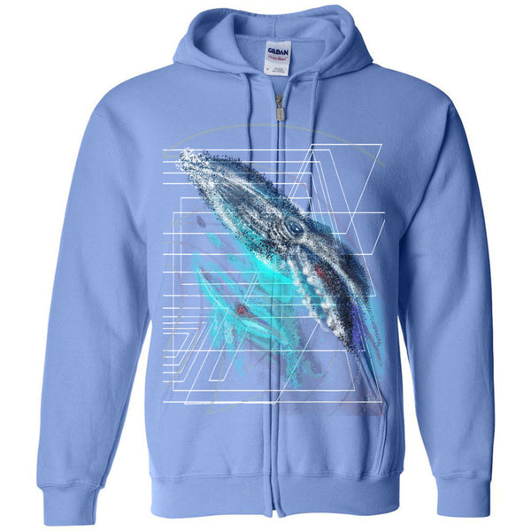 Disapearing Whale 2 Gildan - Heavy Blend Full-Zip Hooded Sweatshirt