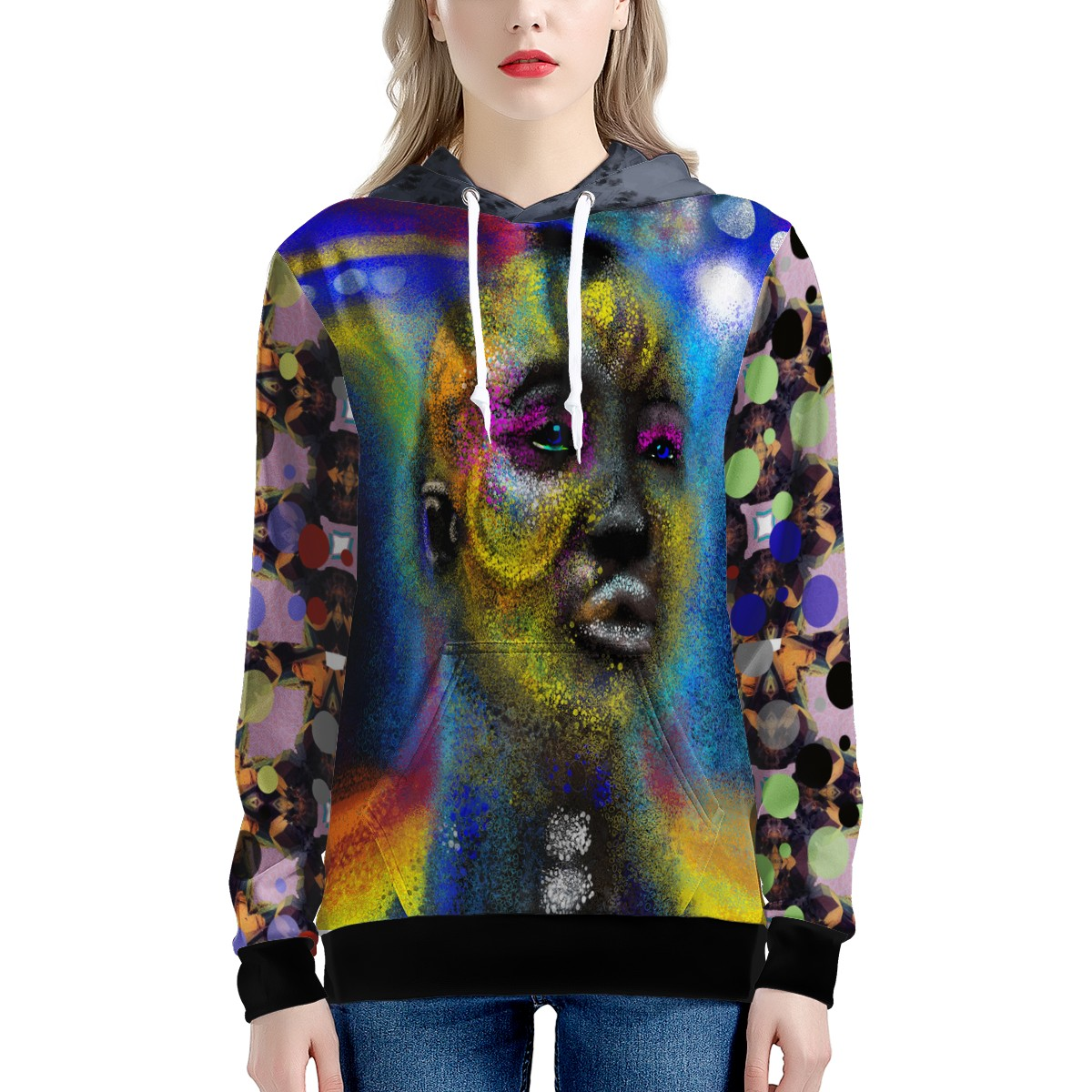 lady of the black Hole All Over Print Hoodie