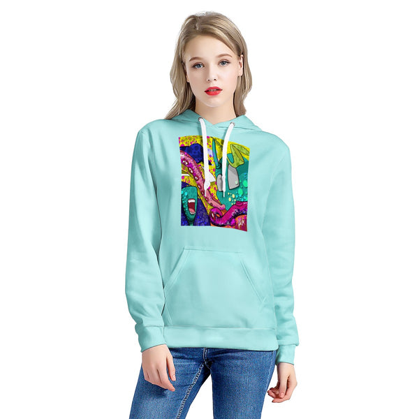 shun pop sweater woman's All Over Print Hoodie