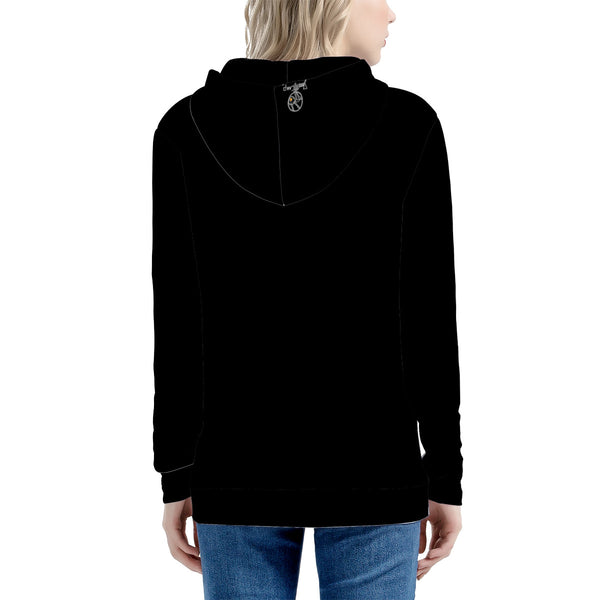 Women's All Over Print Zip Hoodie