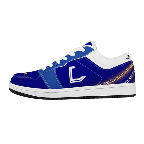 J-Mons blues Low Top Leather Sneakers