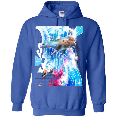 Dolphin Love Sergio - Heavy Blend Hooded Sweatshirt