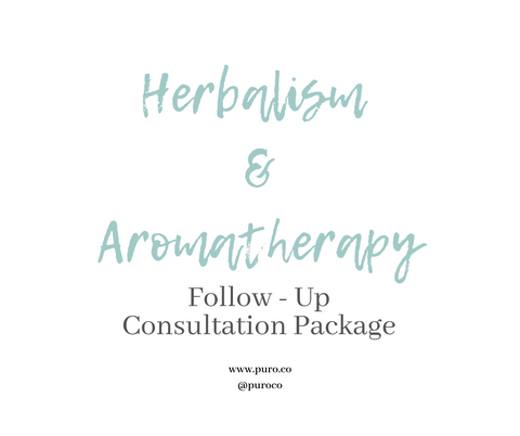 Herbalism & Aromatherapy Consultation Follow-Up Package