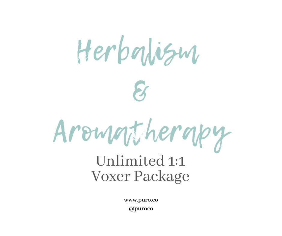 Herbalism & Aromatherapy 1:1 Voxer Support Package