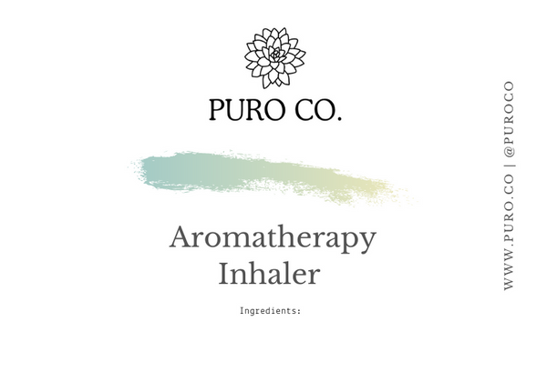 Aromatherapy Inhaler + Blending Guide pdf.